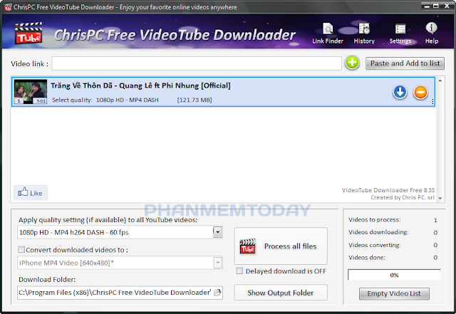 ChrisPC Free VideoTube Downloader 8.35 [ phanmemtoday.com ]
