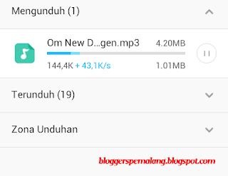 Menambah kecepatan download di Android