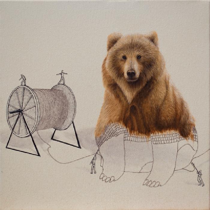 10-Bear-Ricardo-Solis-Surreal-Illustrations-of-Animals-in-Mid-Construction-www-designstack-co