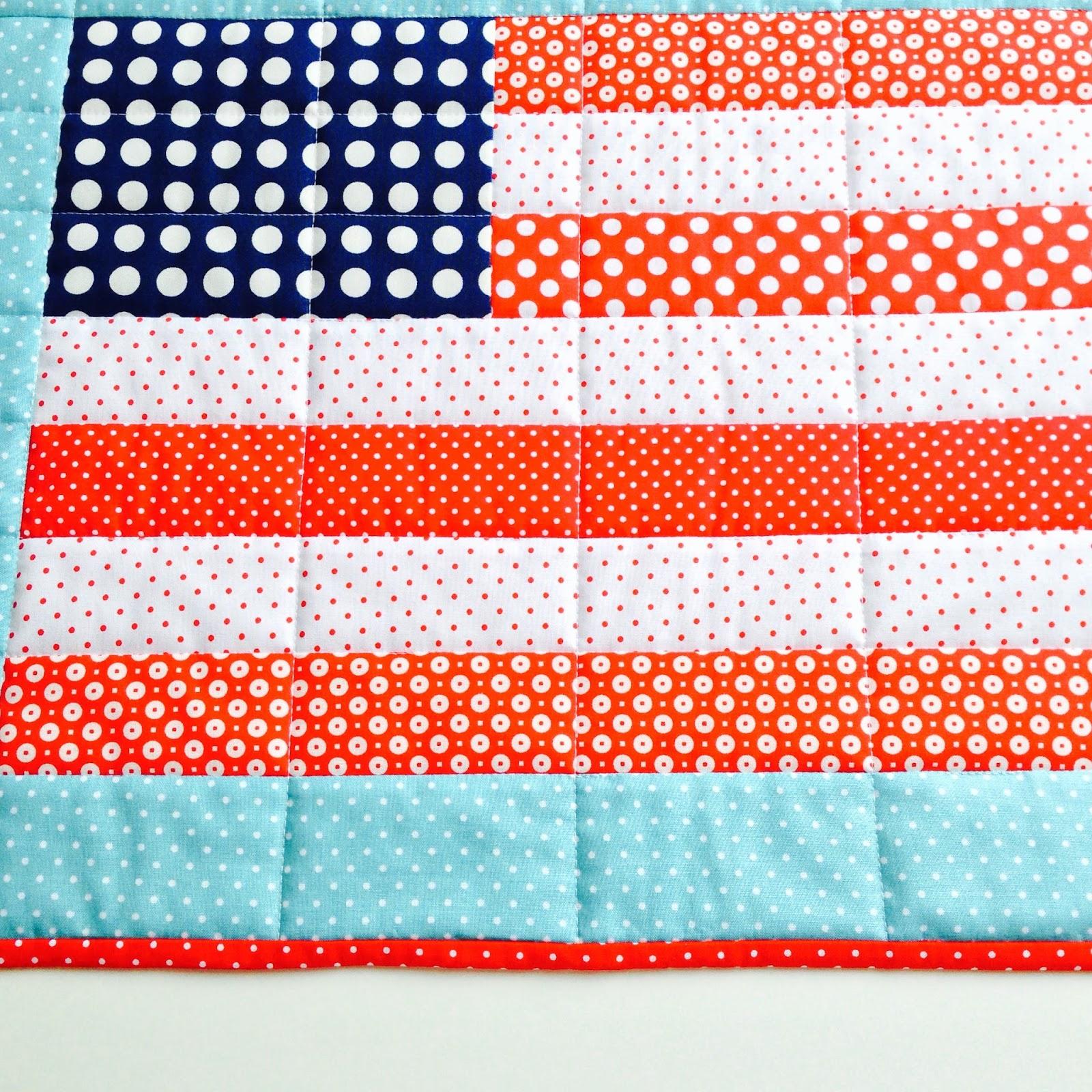 Patriotic Sewing American Flag Mini Quilt
