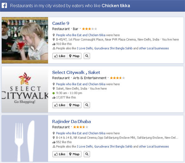 Find best restaurants in your city through Facebook graph search