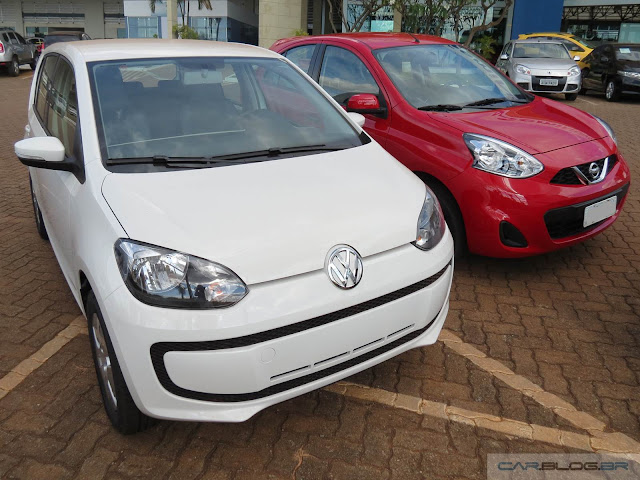 Volkswagen up! x Nissan March: comparativo