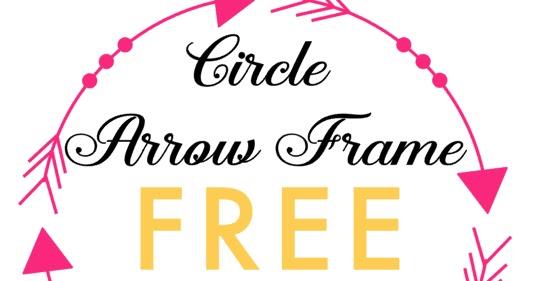 Circle Arrow Frame Free Silhouette Studio Cut File