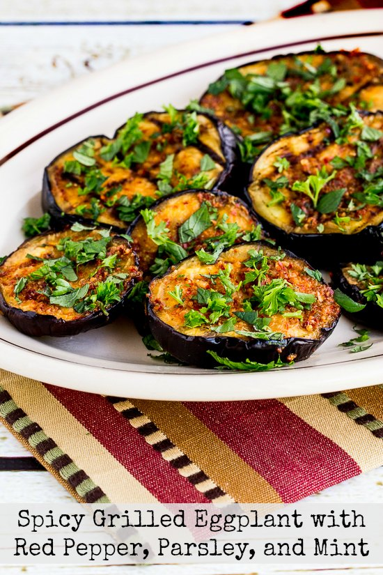 Grilled Spicy Eggplant with Red Pepper, Parsley, and Mint from Kalyn's ...