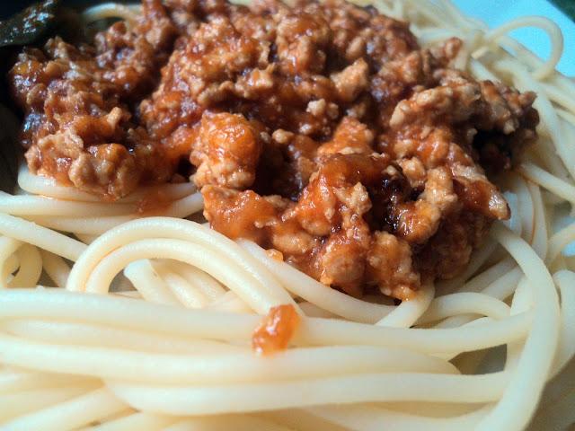 Spaguettis a la boloñesa de Víctor