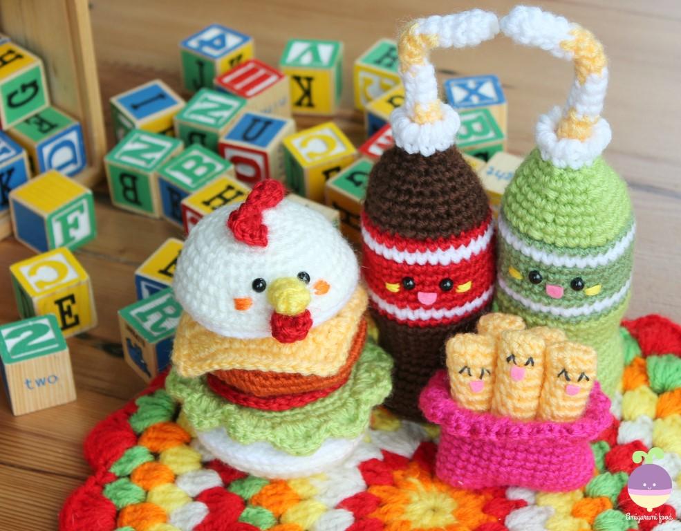 Amigurumi Food Chicken Burger Friends New Crochet Pattern