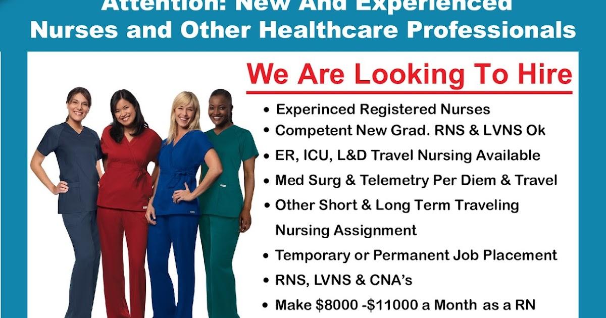 Lvn Travel Nurse Jobs California