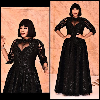 N1.5million dress Toyin Lawani designed