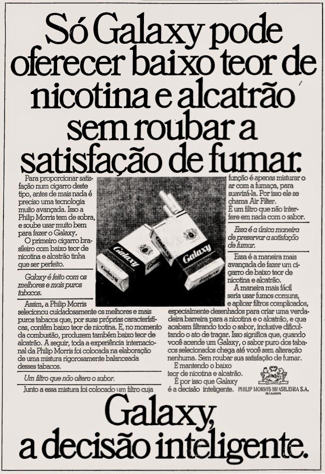 galaxy. propaganda anos 70; história decada de 70; reclame anos 70; propaganda cigarros anos 70; Brazil in the 70s; Oswaldo Hernandez;