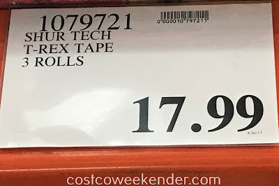 Costco 1079721 - Deal for 3 rolls of Shur Tech T-Rex Tape at Costco