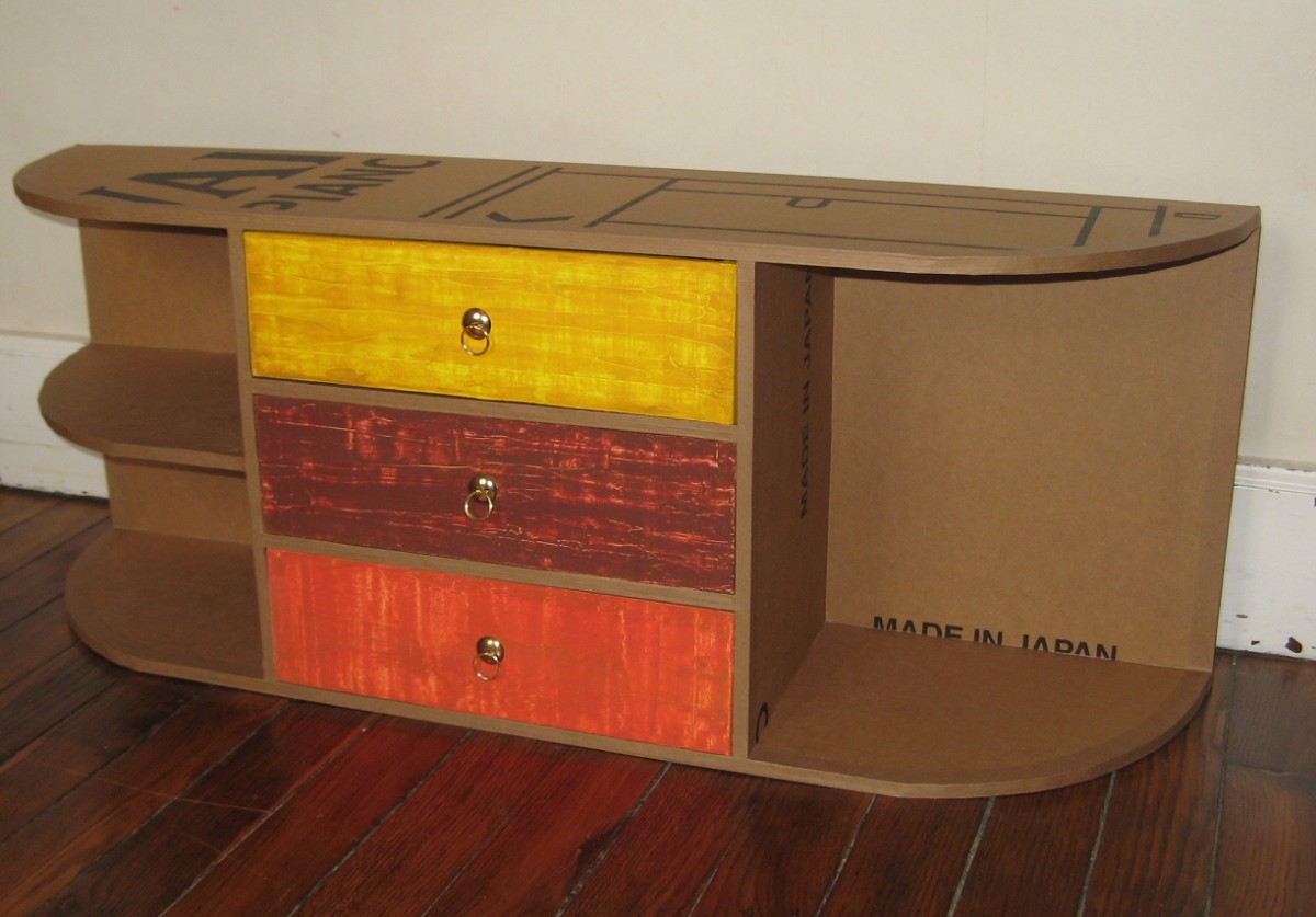 Petit meuble range bureau for Meuble jaune