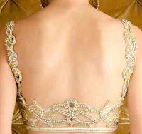 deep back neck saree blouse patterns