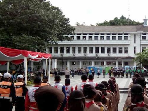 Apel Gelar pasukan Operasi Lilin Lodaya 2017 di Balai Kota Bandung