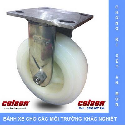 Bánh xe đẩy inox 304 vật liệu bánh xe Nylon | 54111 www.banhxepu.net