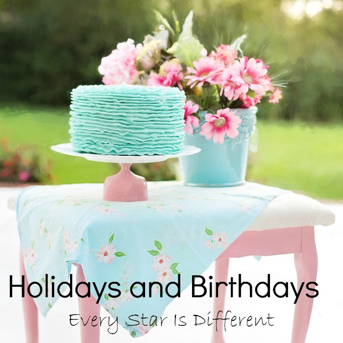 Holidays and Birthdays
