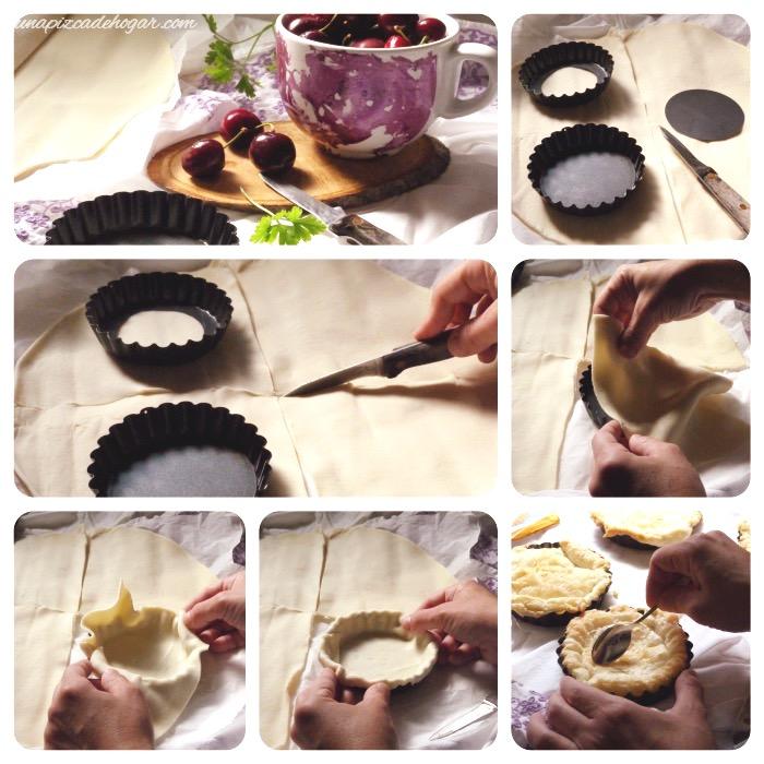 receta de tartaletas de cerezas el proceso
