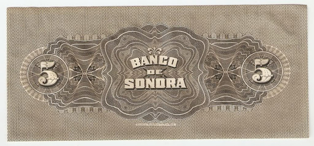 EL BANCO DE SONORA 5 PESOS