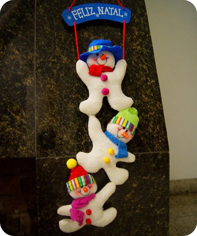Decoração Natalina Enfeites de Natal Bonecos de Neve Feliz Natal