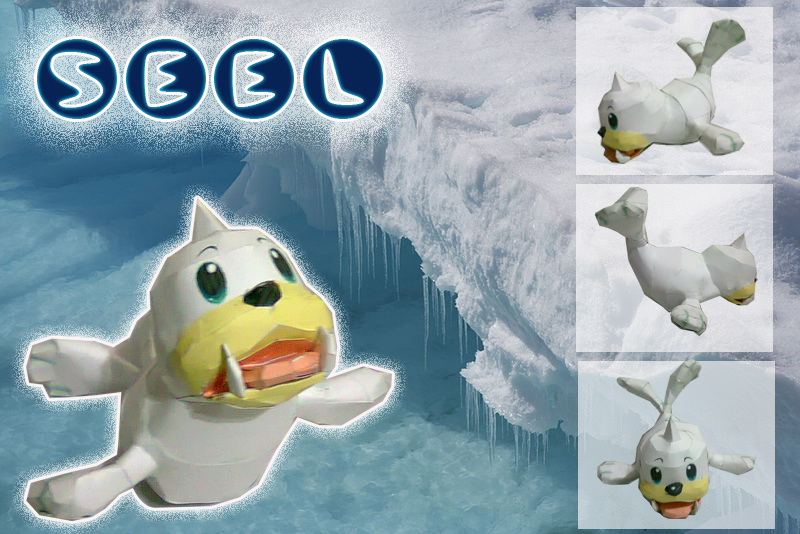 Pokemon Seel Papercraft