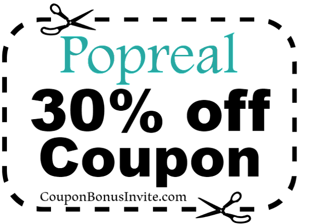 Popreal Coupon February, Popreal Coupon April, Popreal Coupon March, Popreal Coupon May 2017