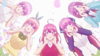 五等分の花嫁1〜4話感想。声優さんが五つ子を演じ分けるアニメならではの演出。