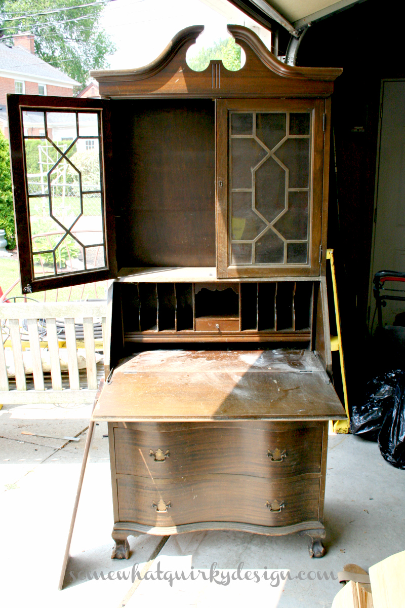 Somewhat Quirky Making An Old Secretary Beautiful Again