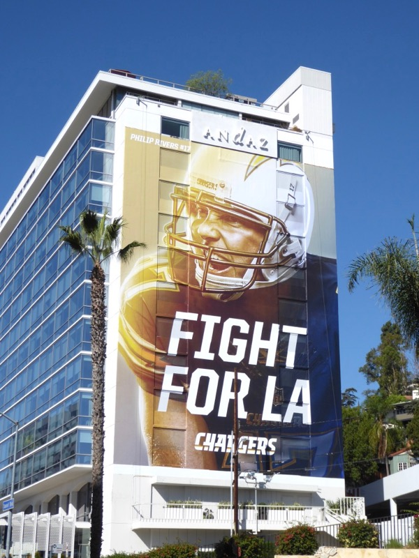 Fight for LA Chargers American Football billboard