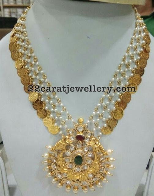 Pearls Kasu Mala with Bangles