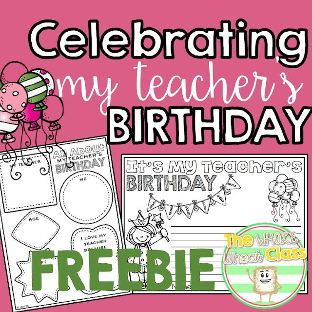 Activities for celebrating my teacher's birthday.
