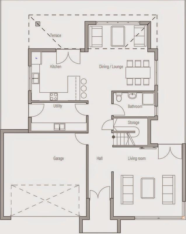 Planos de casa 3 dormitorios 2 plantas planos de casas for Planos de casas de tres dormitorios en una planta