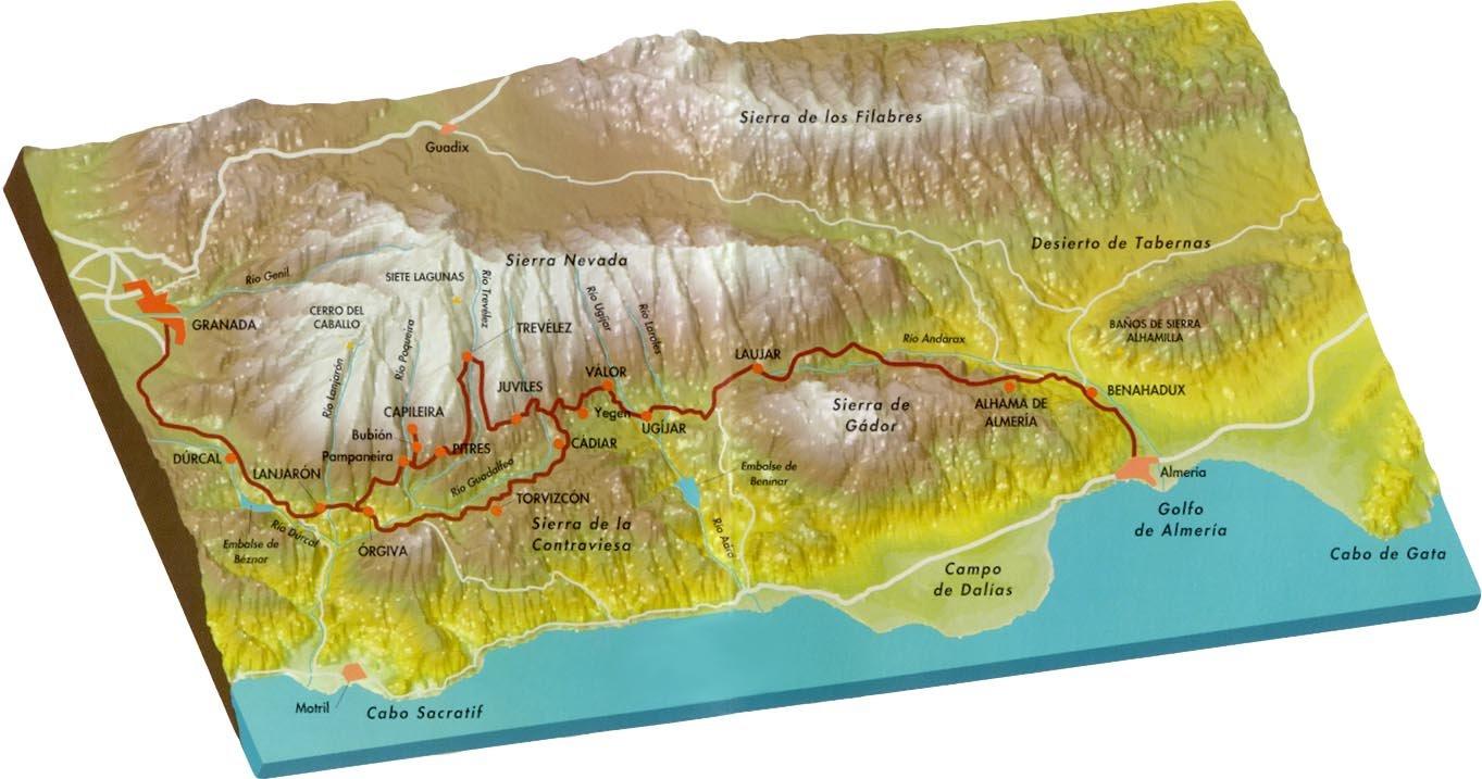 Mapa De La Alpujarra.The Alpujarras Lechien