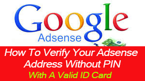 how to verify your adsense address without pin