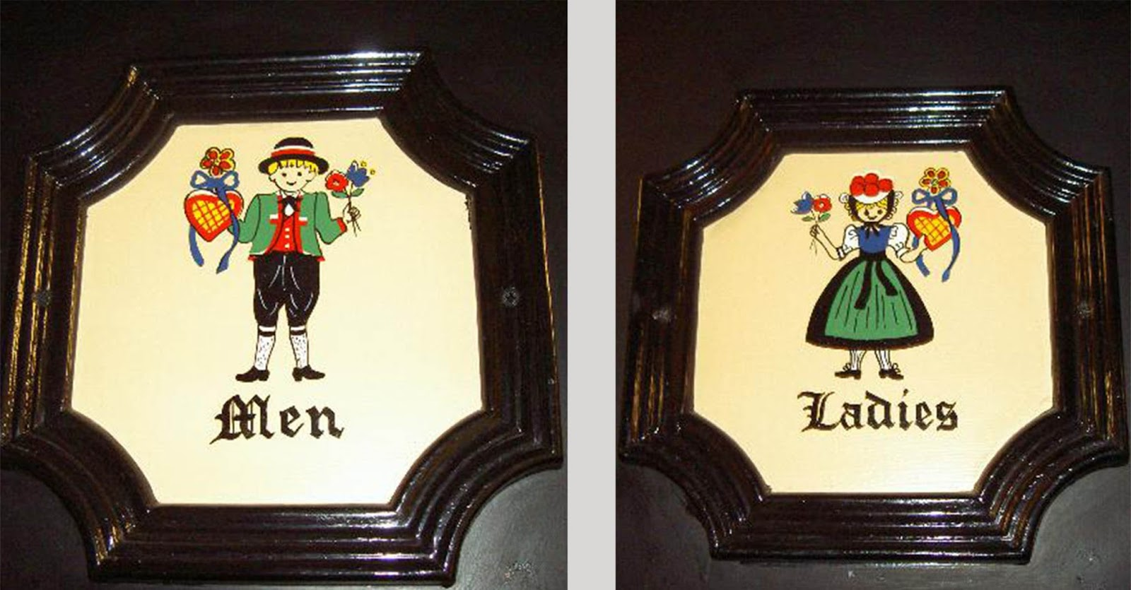 Bathroom Signs German bathroom signs from around the world
