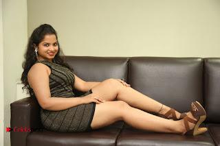 Actress Sirisha  Pictures in Shorts Dress at Follow Follow U Trailer Launch  0114.JPG