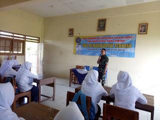 Peltu Arifin Berikan Wawasan Kebangsaan Kepada Murid Baru SMA Muhammadiyah Tersono