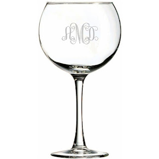 Engraved Balloon Wine Glass
