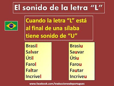 Sonido de la letra L en el portugués de Brasil