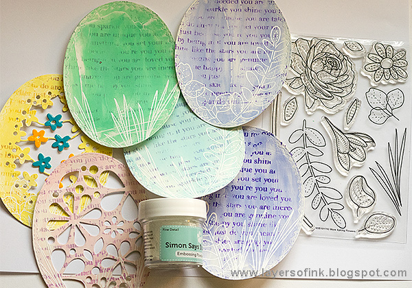 Layers of ink - Easter Egg Accordion Tutorial by Anna-Karin