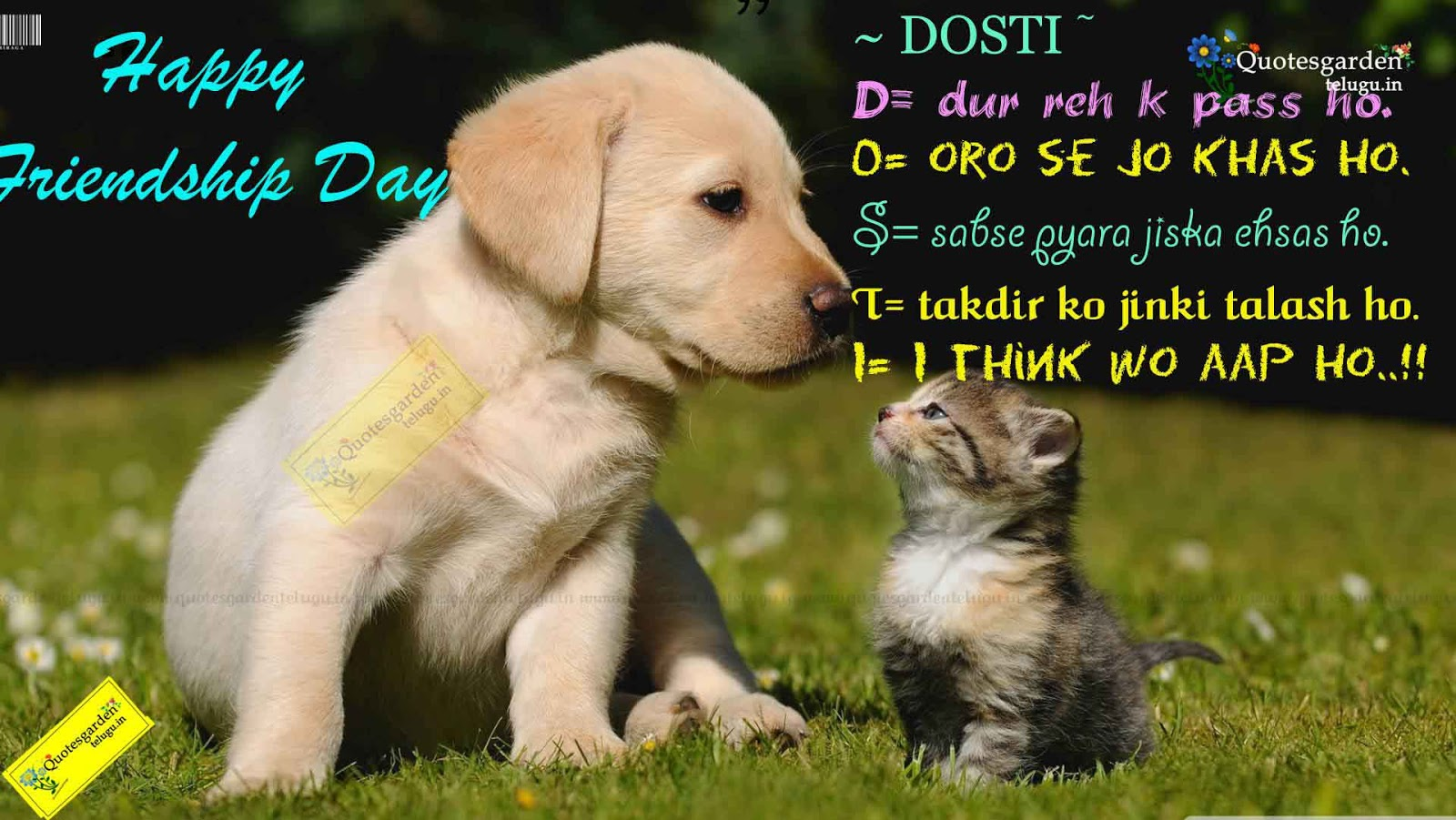 Friendship day image with thought in hindi
