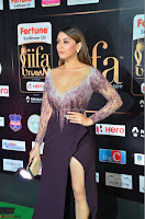 Hansika Motwani in Glittering Deep Neck Transparent Leg Split Purple Gown at IIFA Utsavam Awards 26.JPG