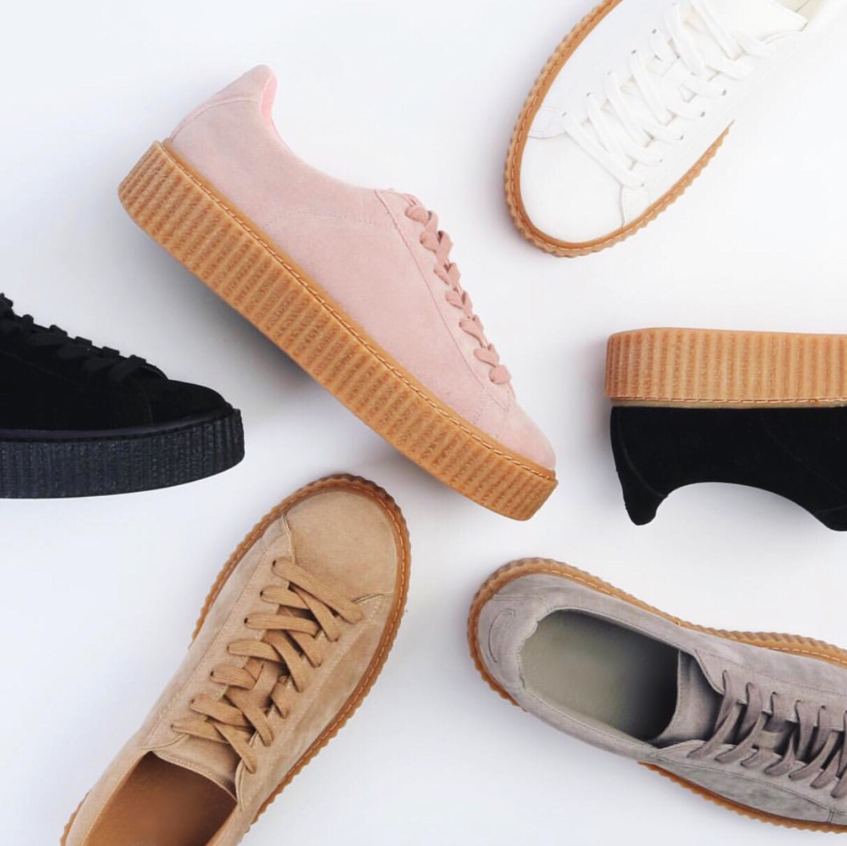 You may have seen I was jammy enough to get hold of a tan black pair of the  Fenty (Rihanna) Puma collaboration creepers. It was a glorious moment for  me ... b28184e27