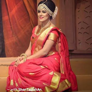 Shanta Jahan In Pink Saree
