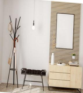 Stand hanger yang unik menjadi interior rumah