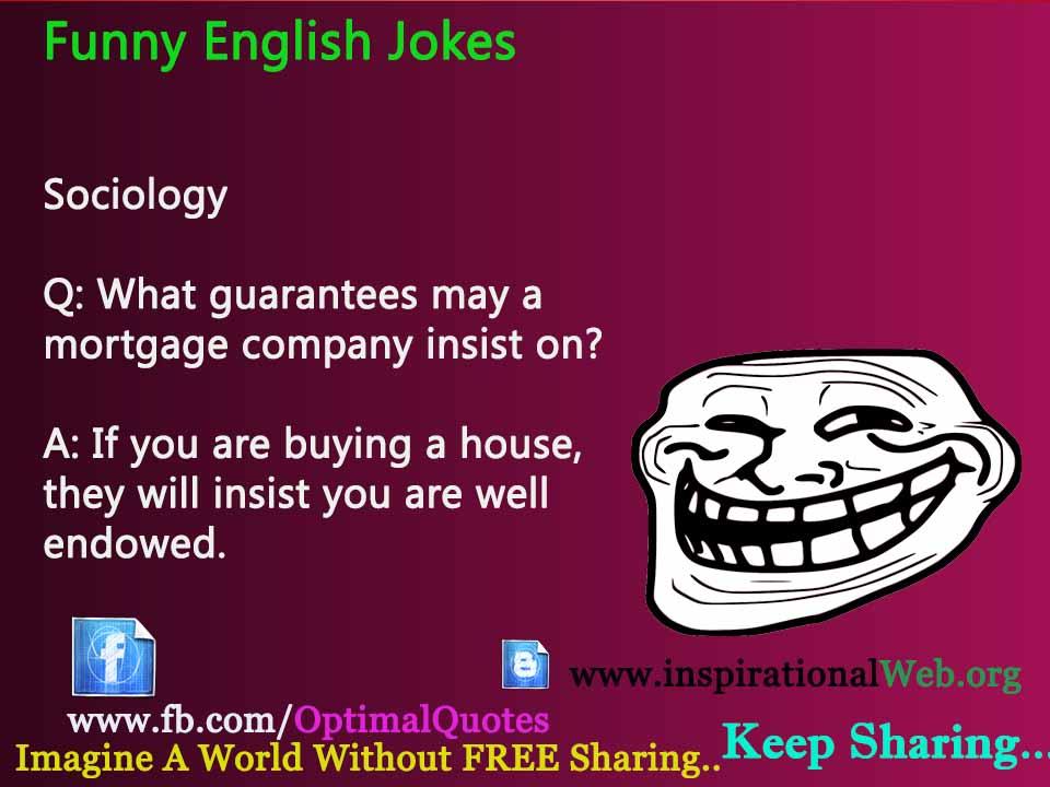 Latest Funny English Jokes