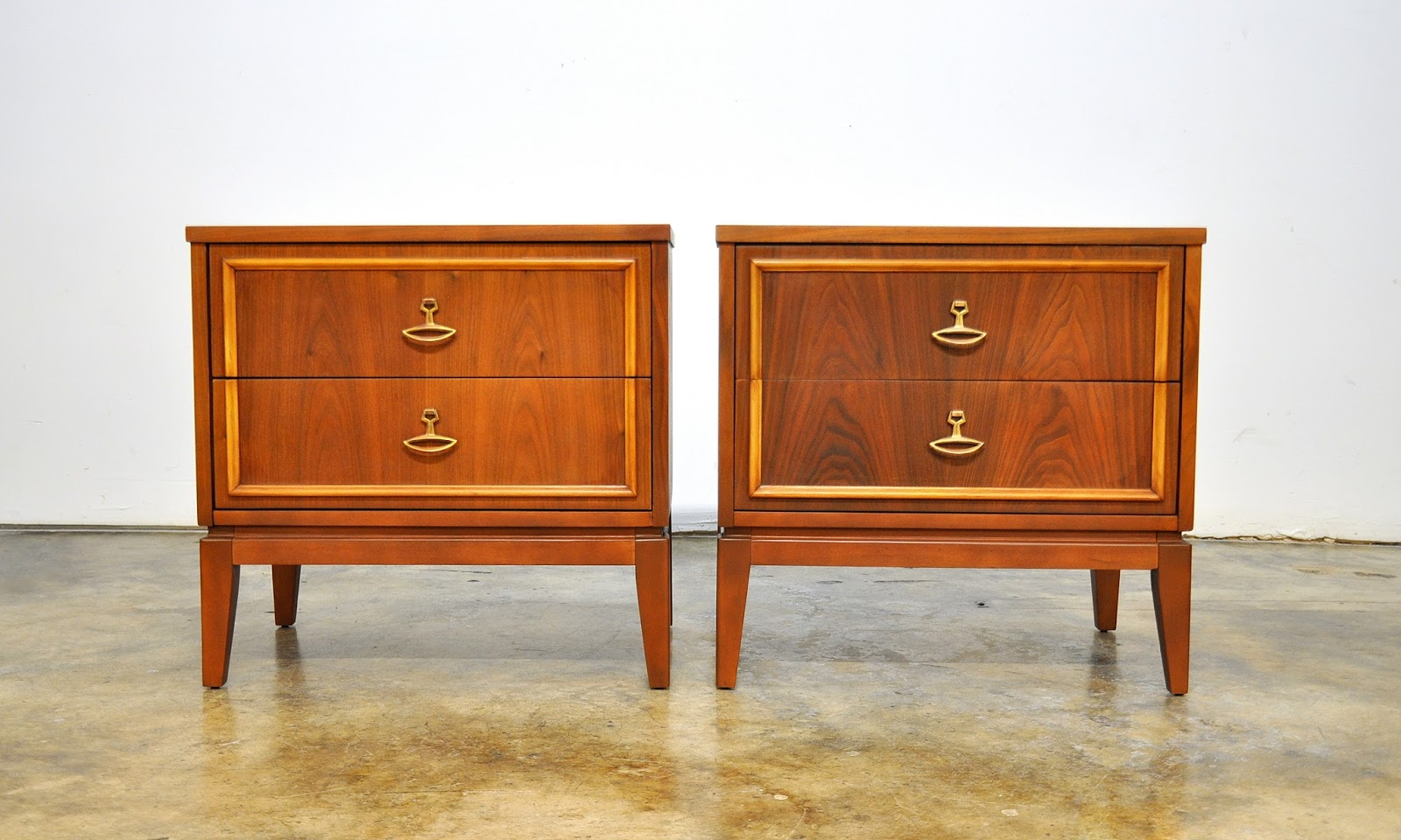 Select Modern Pair Of Dixie Nightstands Bedside Side Or