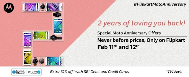 Flipkart and Motorola's 2nd Anniversary Sale Deals