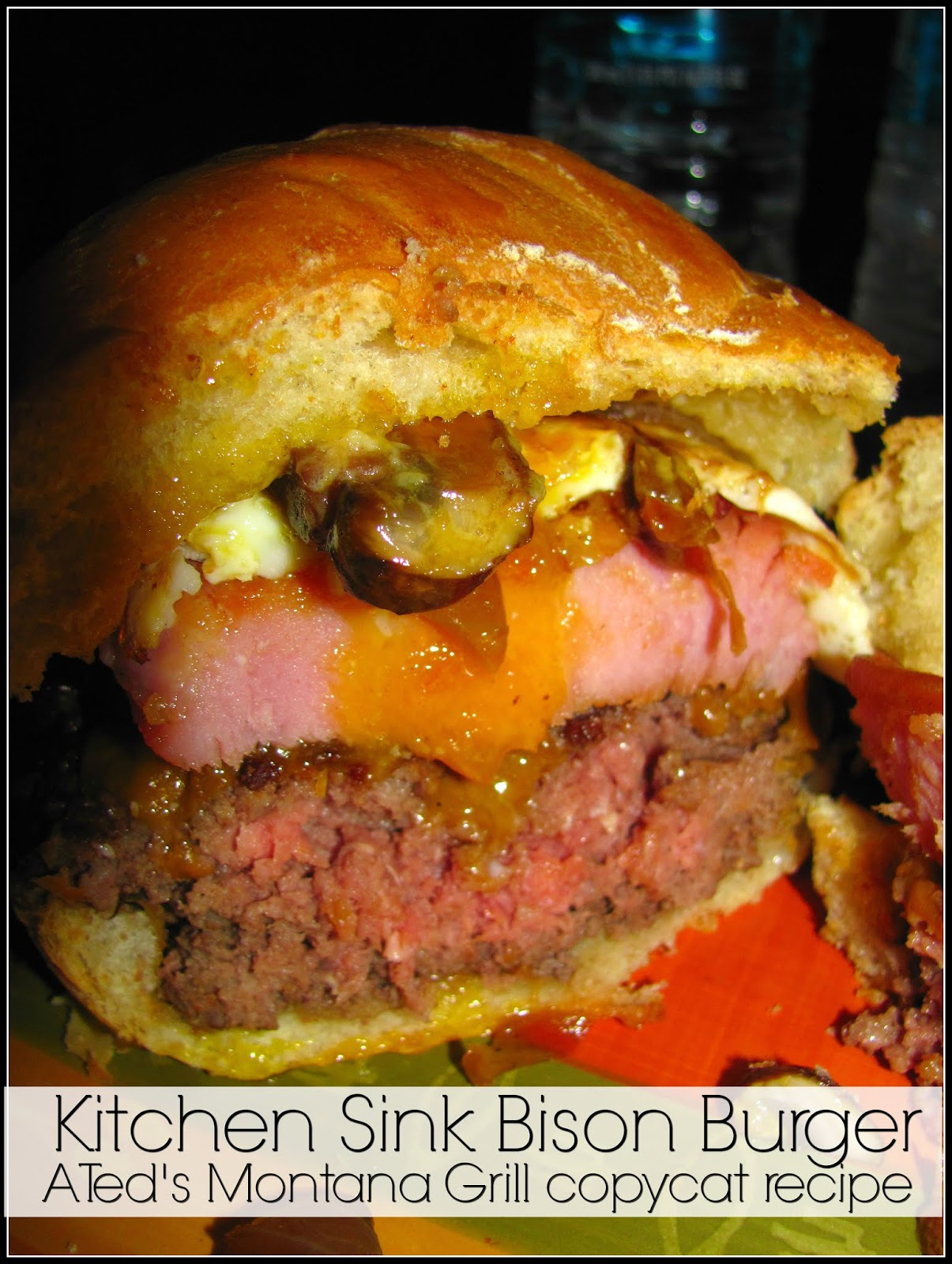 For the Love of Food: Ted\'s Montana Grill Kitchen Sink Bison Burger