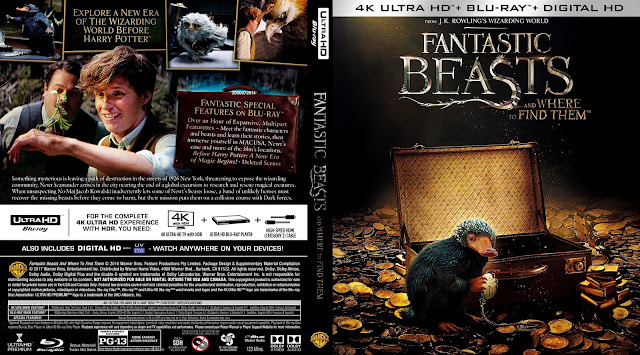 Fantastic Beasts And Where To Find Them 4K Bluray Cover