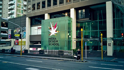 kampus di Auckland yakni Media Design School