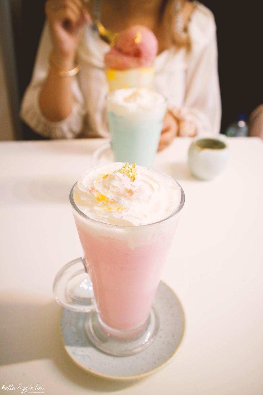 unicorn latte at st aymes